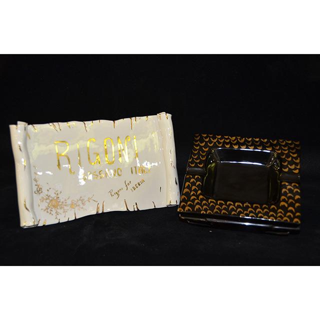 ashtray - 灰皿|Leopard Pattern×Black / ヒョウ柄×ブラック|四角型|Angela Rigon  : イタリア|OBJ0125RGN