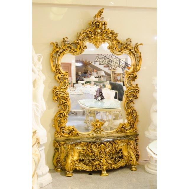 Mirror Console - Gold / ミラーコンソール - ゴールド|IB Selection|MRR0008