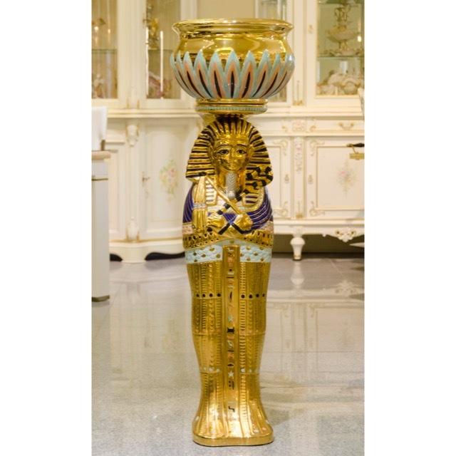 Collum Egyptian / コラム エジプシャン|プランター付き コラム|IBセレクション|OBJ0066