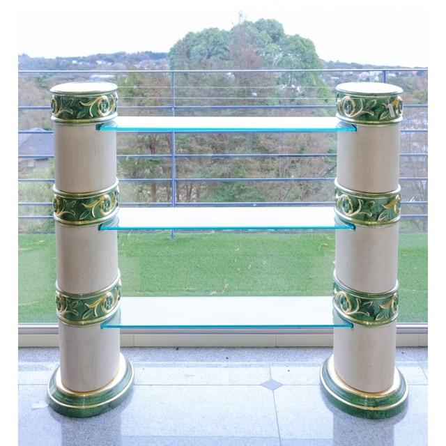 Collum Cabinet / コラム キャビネット|ガラス 3段 シェルフ|IBセレクション|OBJ0065