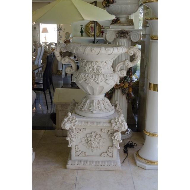 Pottery Column Set - White / プランター  コラムセット ホワイト / プランター ガーデン コラム ホワイト |IBセレクション|HGE0025