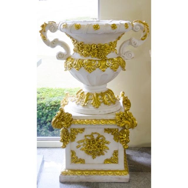 Pottery Column Set White Gold / プランター コラムセット ホワイト ゴールド|IBセレクション|HGE0026