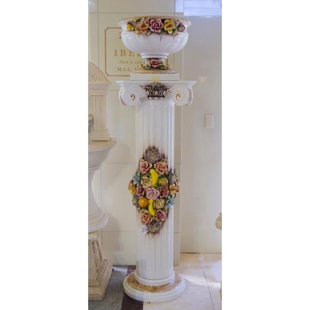 Pottery Planter Column Set/ Object / ハンドメイド陶器プランター&コラムセット  |イタリア|IB Selection|OBJ0067