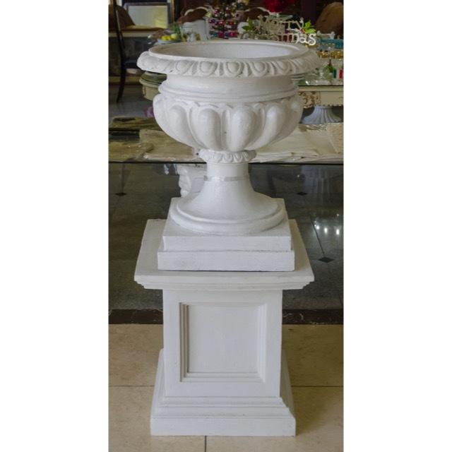 Pottery Column Set - White / プランター コラムセット ホワイト / プランター ガーデン コラム ホワイト |IBセレクション|HGE0028