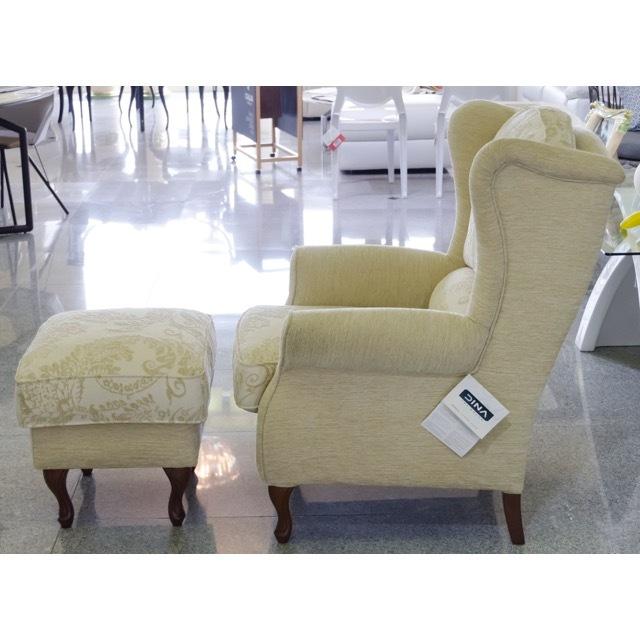 Sofa with Ottoman - Ivory / オットマン付きソファ - アイボリー|スペイン製|Spain|SF0029
