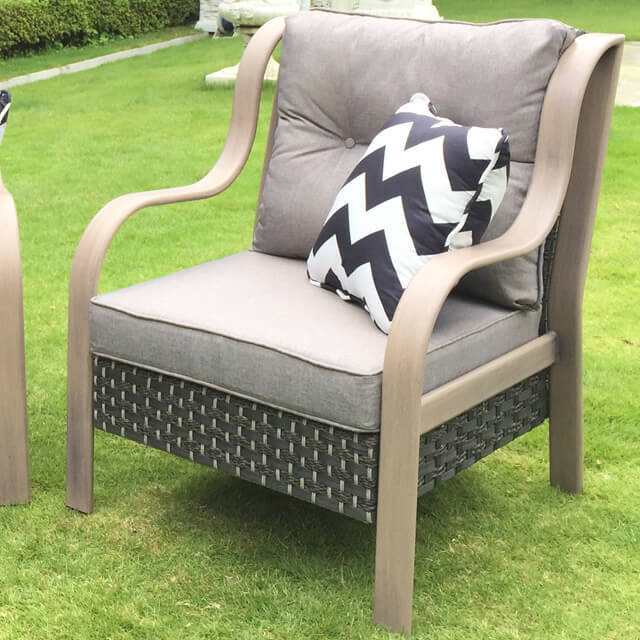 Garden Furniture / Garden Chair / ガーデンチェア単品(低反発クッション付) - ゆったり|IB Selection|HGE0011