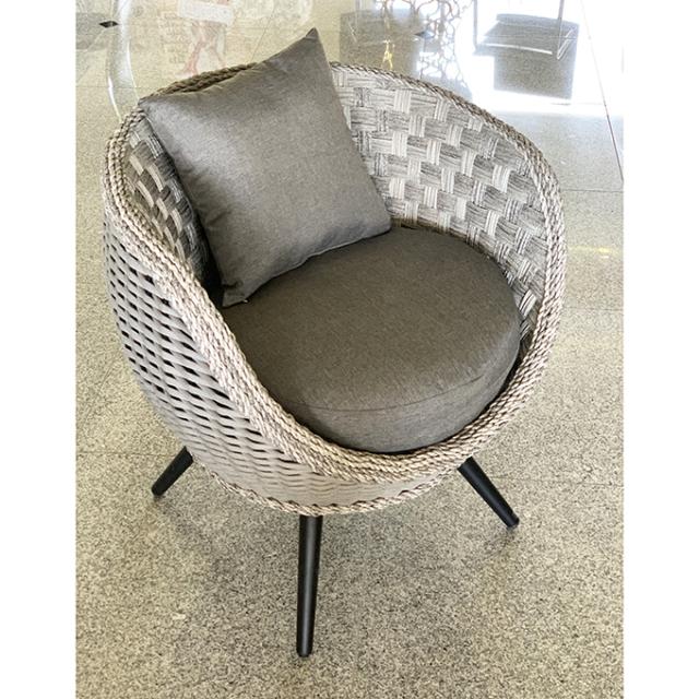 Garden Furniture / Chair / チェア(クッション付) - コンパクト - 脚お選びいただけます(木目調orブラック)|IB Selection|HGE0018