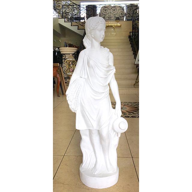 Stone Figure - White / 石像 ホワイト |麦を抱える女の子|IBセレクション|HGE0046