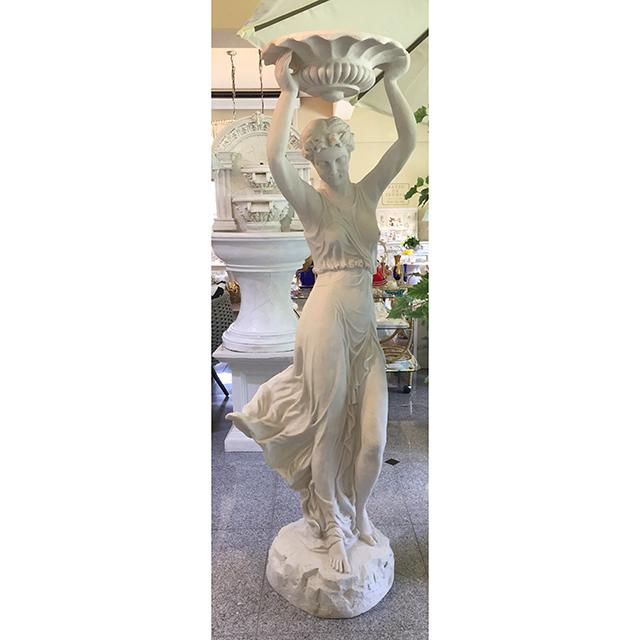 Stone Figure - White / 石像 ホワイト |水盤を持ち上げる女神|IBセレクション|HGE0055