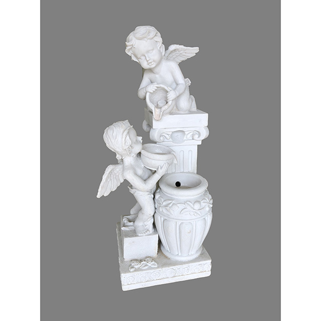 Garden Furniture / fountain / 噴水|エンジェル|アンティーク ホワイト|循環式|IB Selection|HGE0061IB