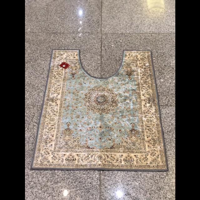 Persian carpet style Toilet mat/ペルシャ絨毯風 トイレマット|Light Blue /ライトブルー 水色|MIS1036IB