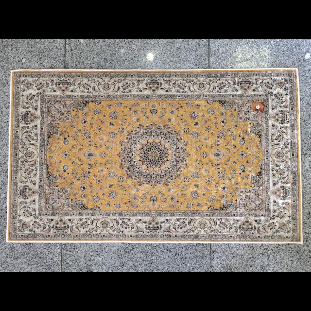 Persian carpet style Rug/ペルシャ絨毯風 ラグ|Yellow / イエロー 黄色|MIS1041IB