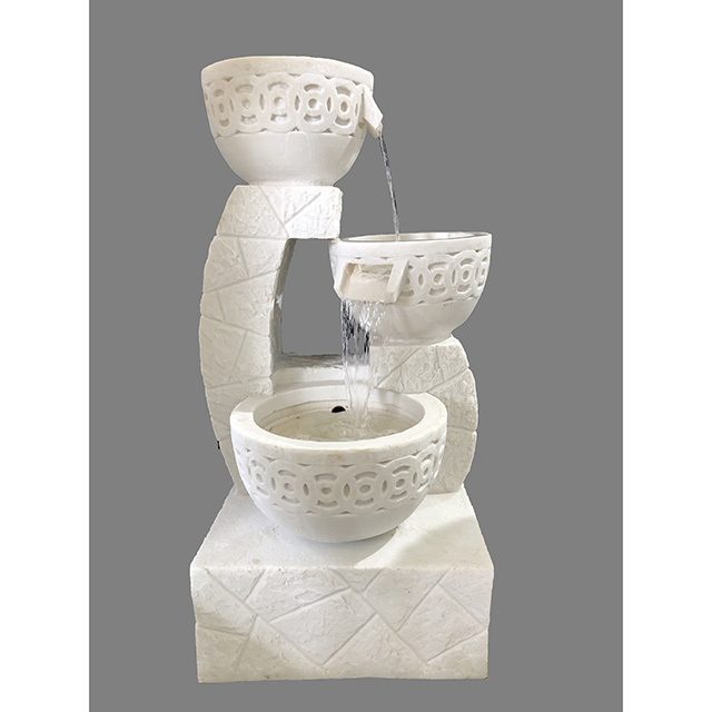 Garden Furniture / fountain / 噴水|壺型|3段|アンティーク ホワイト|循環式|IB Selection|HGE0062IB