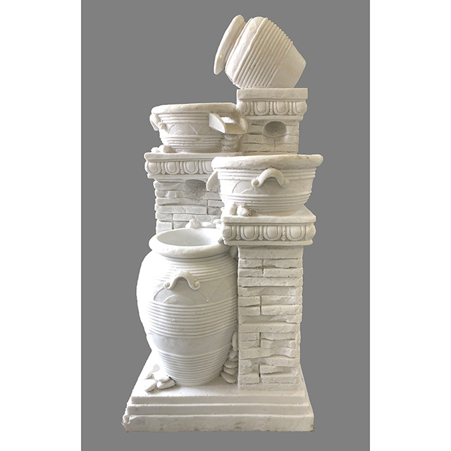 Garden Furniture / fountain / 噴水|アンティーク ホワイト|4段|壺型|循環式|IB Selection|HGE0061IB