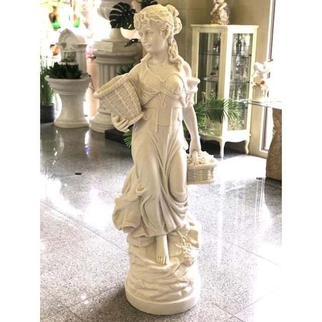 Stone Figure - White / 石像 ホワイト |ぶどう摘みの少女|IBセレクション|HGE0069IB