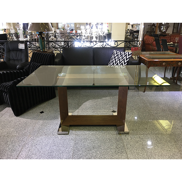 Glas-Dining Table / ガラス天板ダイニングテーブル|テーブル単品|IB Selection|DNG0059IB
