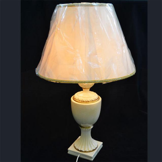 Pottery Lamp / 陶器ランプ - アイボリーゴールド|LMP0009