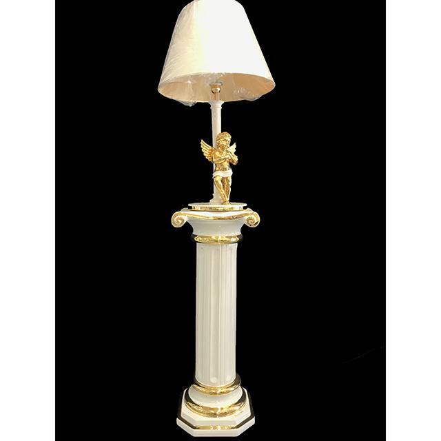 Pottery Columns&Lamp - Gold White / 陶器 コラム・ランプセット ゴールド&ホワイト | Angela Rigon / イタリア|HGE0014RGN