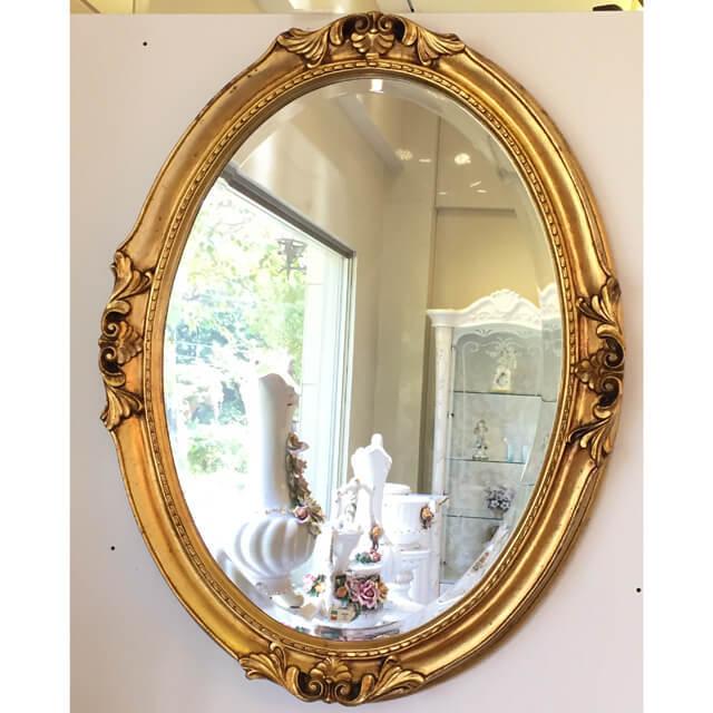 Mirror / ミラー - ボタニカルフレーム/ゴールド/楕円 - イタリア|IB Selection|MRR0004