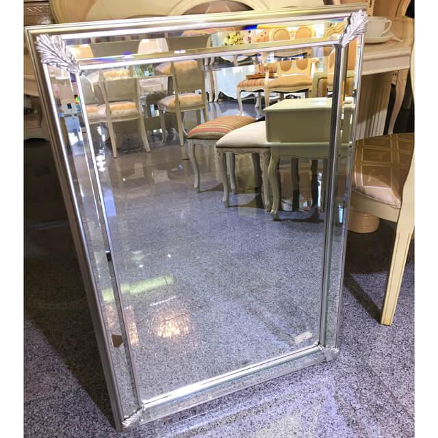 Mirror / ミラー - ボタニカルフレーム/シルバー調/スクエア - イタリア|IB Selection|MRR0005