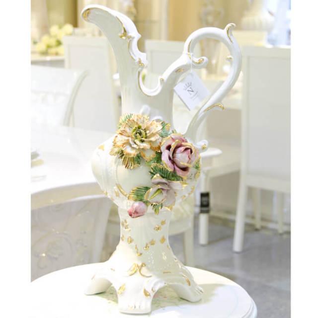 ハンドメイド陶器フラワーベース|IB Selection|OBJ0050