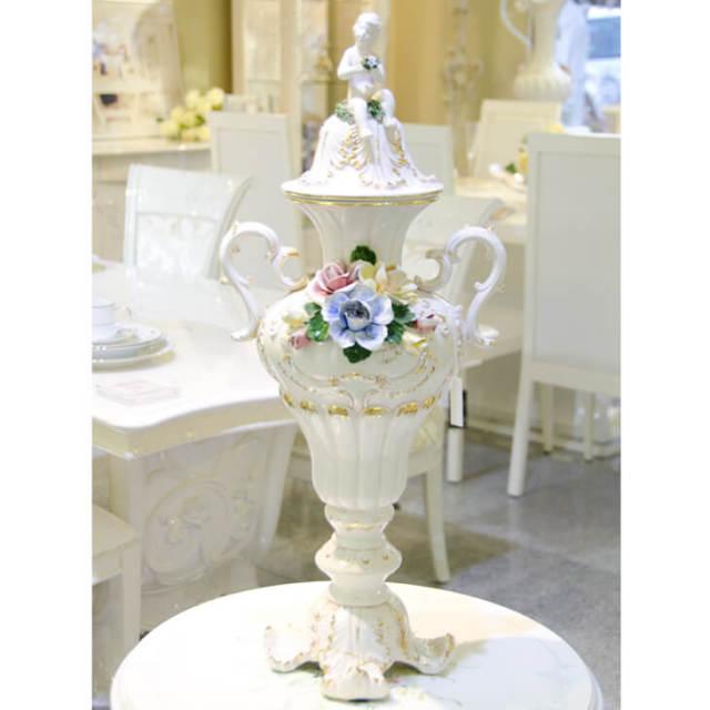 ハンドメイド陶器フラワーベース|IB Selection|OBJ0051