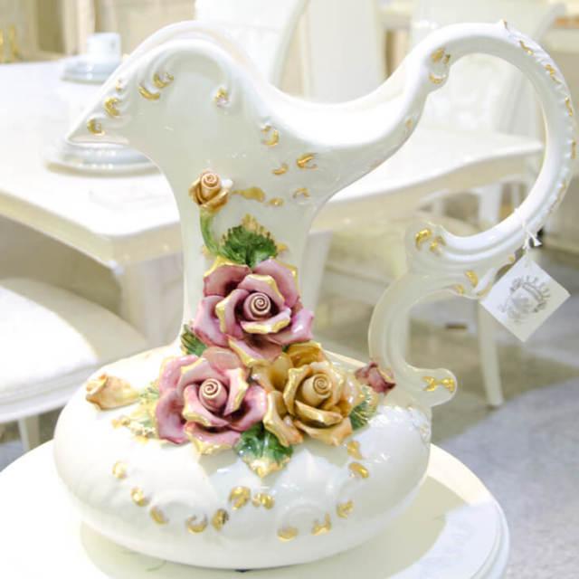 ハンドメイド陶器フラワーベース|IB Selection|OBJ0052