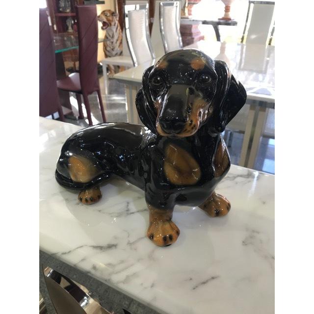 陶器オブジェ|陶器犬|ダックスフンド|OBJ0069