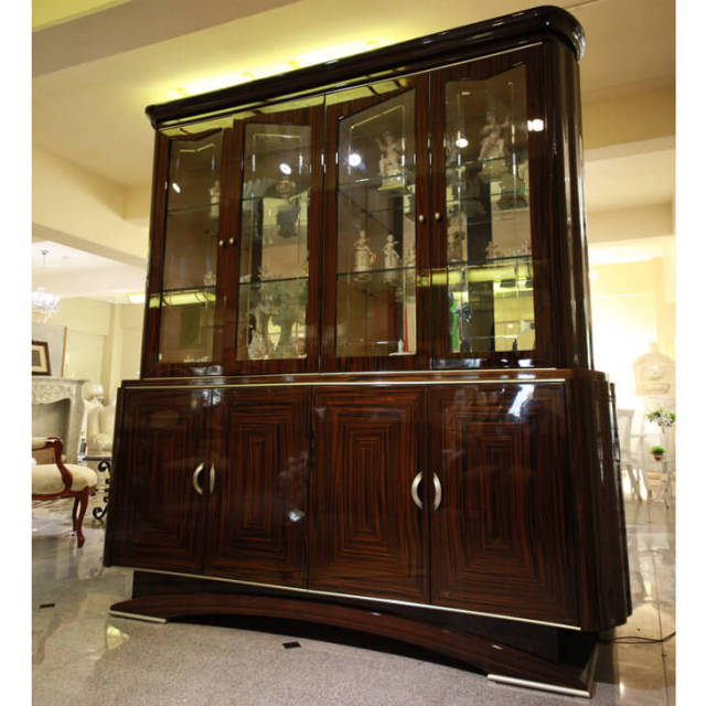 Cabinet / 木目調 鏡面仕上げ 大型キャビネット - イタリア製|IB Selection|SRE0025