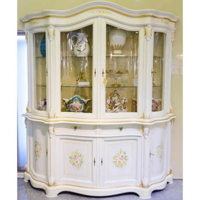 White Cabinet / 2ドア クラックキャビネット ホワイト|IB Selection|SRE0035
