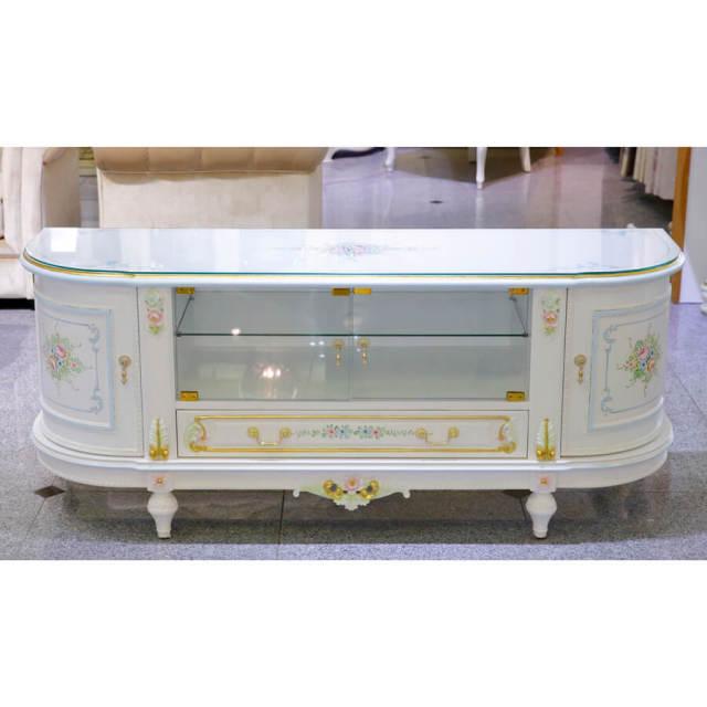 Classic Walnut TV Board - White / クラック仕上げ TVボード ホワイト ウォールナット - クラシック|IB Selection|SRE0037