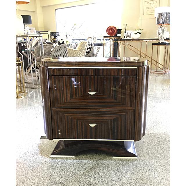 イタリア製|木目調鏡面仕上げ|Side Table/ チェスト|収納付き|IB Selection|SRE0081IB