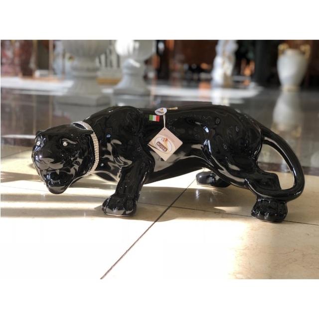 陶器オブジェ|陶器|Black Leopard / 黒ひょう|OBJ0175IB