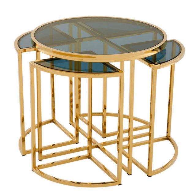 サイドテーブル|SIDE TABLE VICENZA|オランダノールトウェイケルハウト|(EICHHOLTZ)