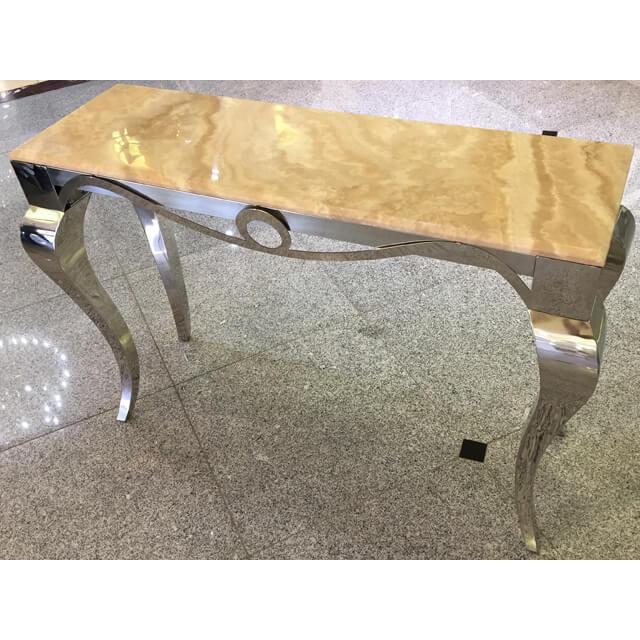 Table / 大理石天板テーブル|コンソール - 猫脚:ステンレス/アイボリーホワイト - モダン|IB Selection|TBL0030