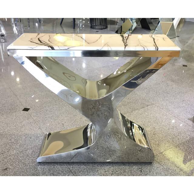 Table / 大理石天板テーブル|コンソール - 脚:ステンレス - モダン|IB Selection|TBL0031