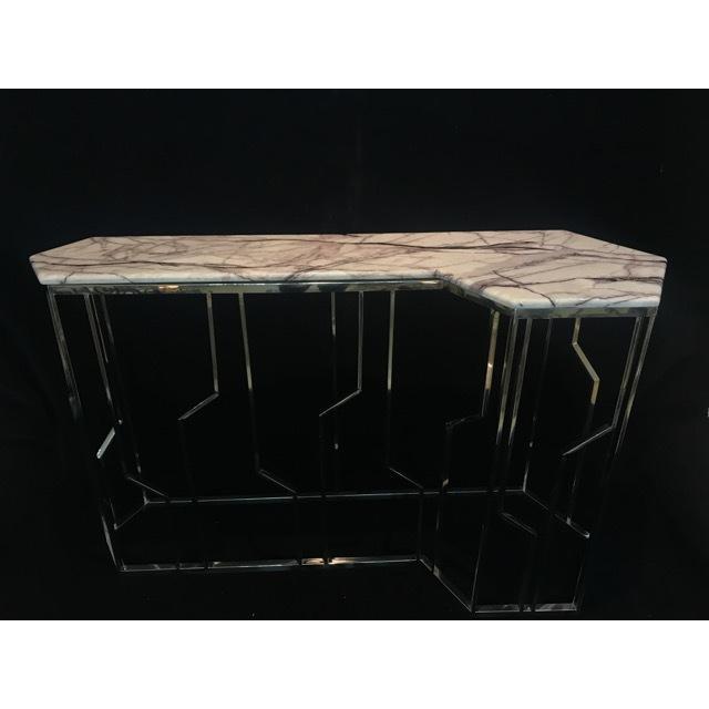 Table / 大理石天板テーブル|コンソール - 脚:ステンレス - モダン|IB Selection|TBL0032