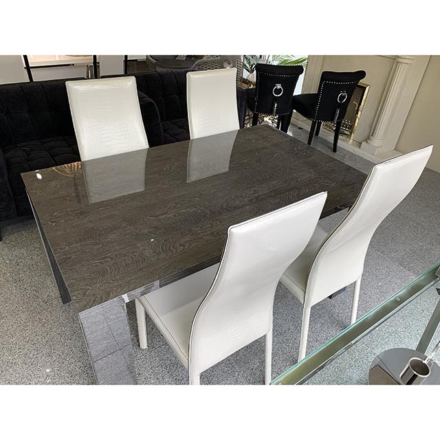 dining Table - ダイニングテーブル|145cm|テーブル単品|木目調・グレー仕上げ|イタリア製|TBL0058IB