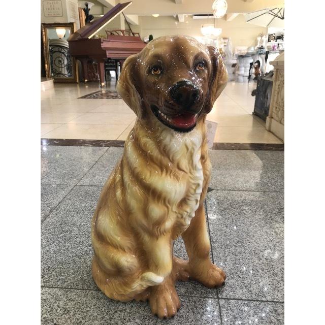 陶器オブジェ|陶器犬|ラブラドール・レトリバー|OBJ0070