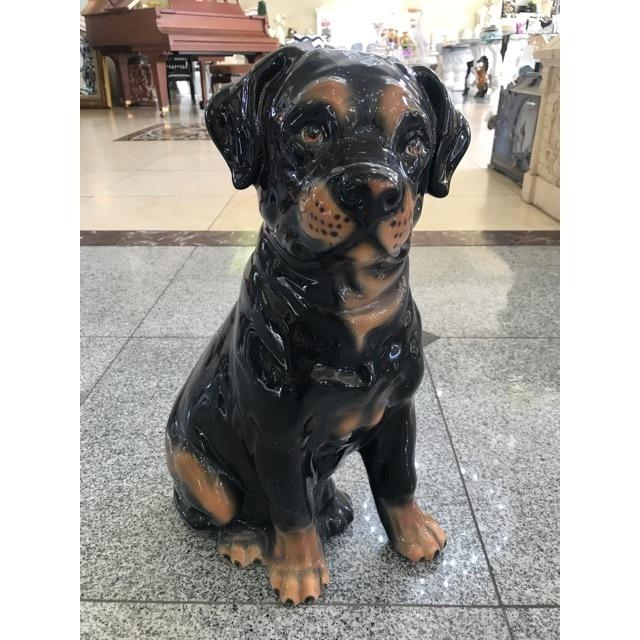 陶器オブジェ|陶器犬|ロットワイラー|OBJ0071