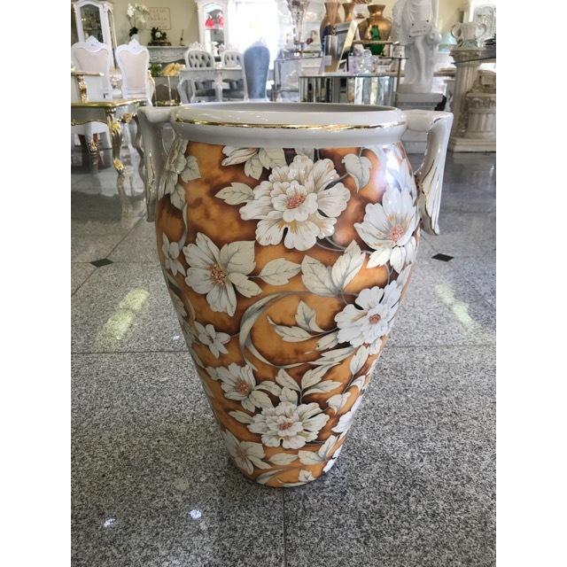 Flower Vase / フラワーベース|ハンドメイド陶器花瓶 壺 |イタリア|Angela Rigon|OBJ0073RGN