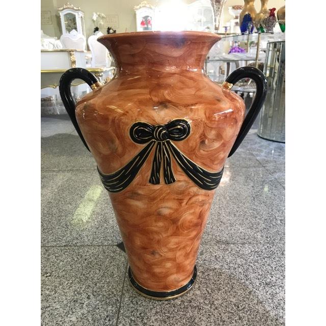 Flower Vase / フラワーベース|ハンドメイド陶器花瓶 壺 |イタリア|Angela Rigon|OBJ0074RGN