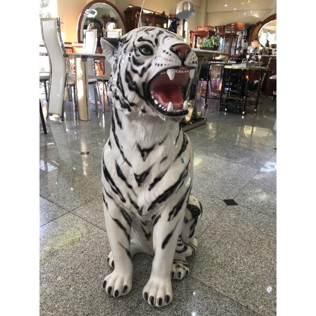 陶器オブジェ|陶器|White Tiger/ホワイトタイガー|OBJ0084