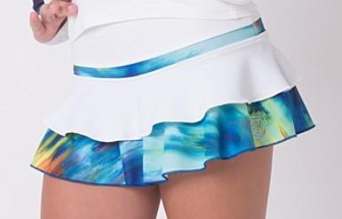 ホワイト・パフォーマンス・スカート ワイルド・ブルー 130cm