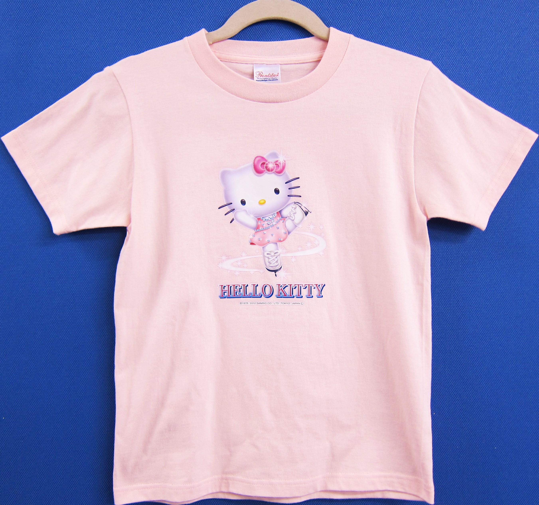 KT-8 ハローキティ・Tシャツ ピンク・ブルー 140cm