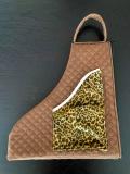 KM-6 スケート靴バッグ  Mサイズ  レオパード  マスクケース付き