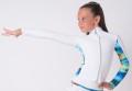 ホワイト・パフォーマンス・ジャケット ワイルド・ブルー 日本サイズ160cm・日本サイズ大人XS