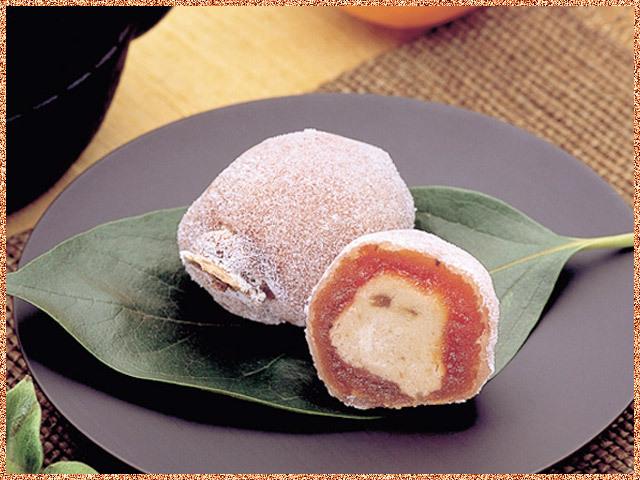 市田柿と栗の和菓子柿寿楽