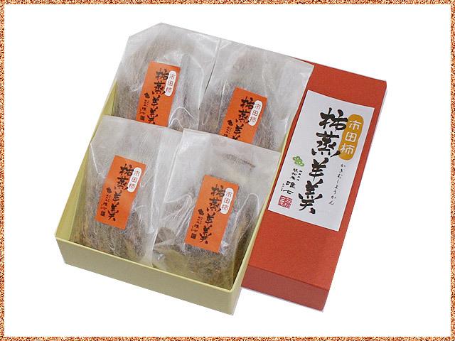 市田柿の柿蒸し羊羹のパッケージ4個