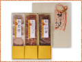 市田柿4個、柿チップス100g、柿甘納糖100gの三種詰合せ